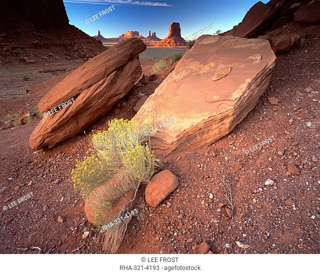View from North Window, Monument Valley Tribal Park, Arizona, United States of America, North America