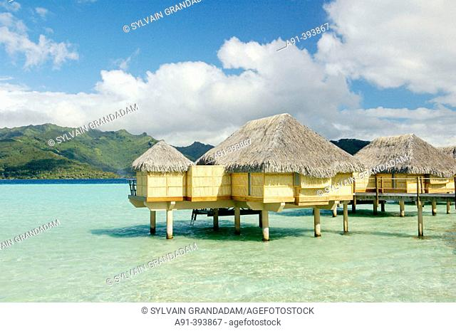 Pearl Beach Hotel resort (member of Relais & Chateaux chain). Tahaa island. French Polynesia. South Pacific