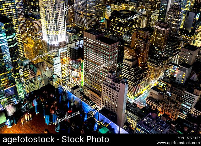 New York Manhattan night view. Shooting Location: New York, Manhattan
