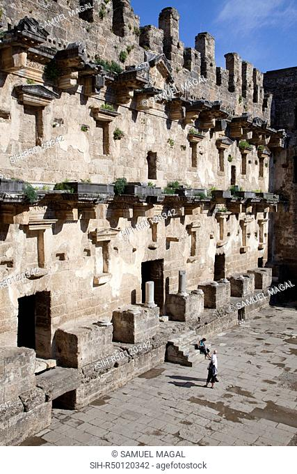 The Imperial Roman Theater was built probably during the reign on Marcus Aurelius circa 161 AD – 180 AD, and was most likely designed by the architect Zeno son...