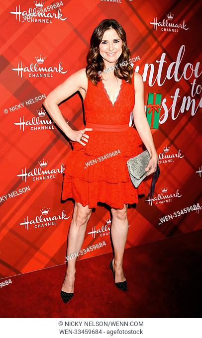 Hallmark's 'Christmas at Holly Lodge' screening at 189 The Grove Drive - Arrivals Featuring: Kellie Martin Where: Los Angeles, California