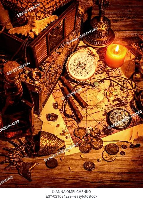 Pirates treasure still life