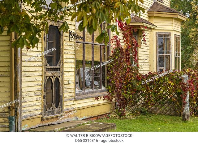 Canada, Prince Edward Island, Georgetown, old house detail