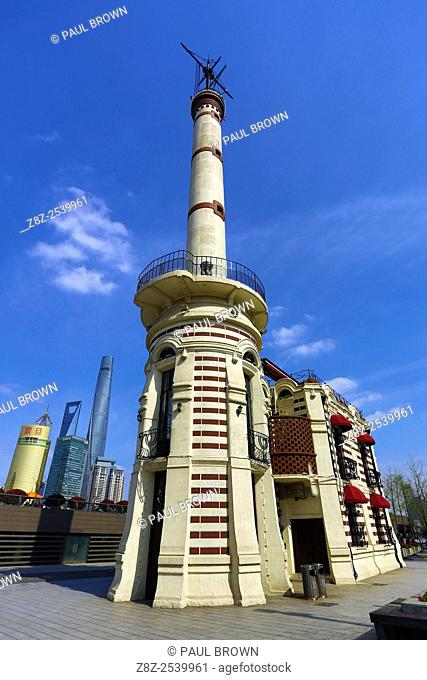 Gutzlaff Signal Tower on the Bund, Shanghai, China