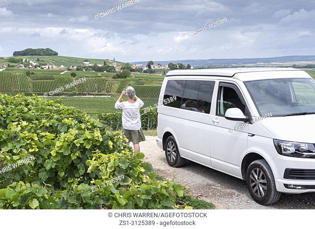 Taking a photo from the Camper Ville Dommange Reims Marne Grand Est France