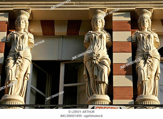 France, Languedoc, Toulouse, facade