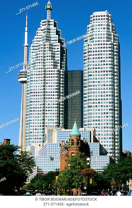 Downtown office buildings in Toronto. Ontario, Canada