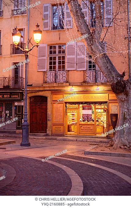Sweet Shop or Patisserie on Town Square Place de la Mairie Aix-en-Provence Provence France