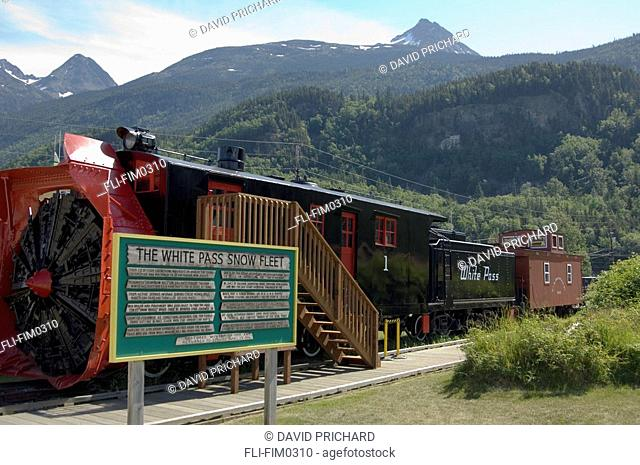White Pass Snowplow Engine, Skagway Alaska