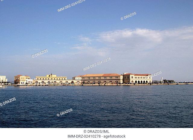 Ermoupolis, storage rooms, customs houses, Syros, Cyclades, Greece