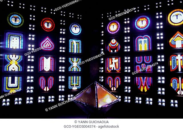 Stained Glasses, at Saint Remy Church, Baccarat, Meurthe et Moselle, France