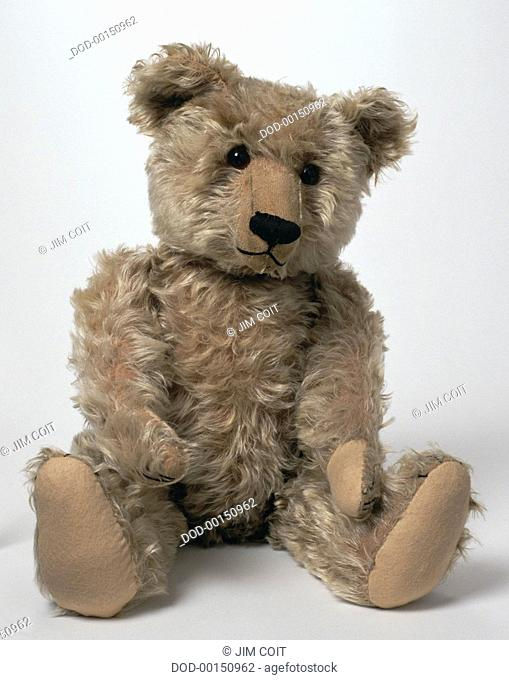 Seated vintage teddy bear