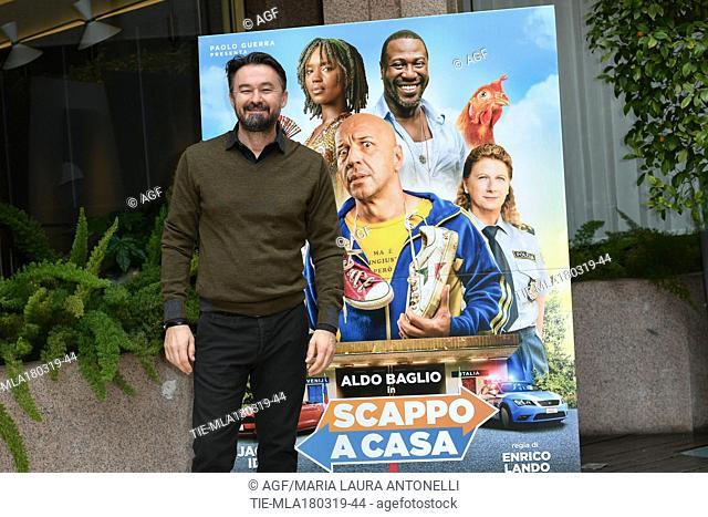 Enrico Lando during 'Scappo a casa' film photocall, Rome, Italy 18/03/2019