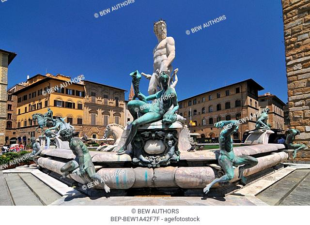 Fountain of Neptune is a fountain in Florence, Italy, situated on the Piazza della Signoria in front of the Palazzo Vecchio