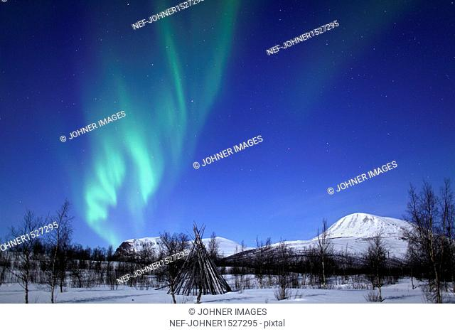 View of aurora borealis