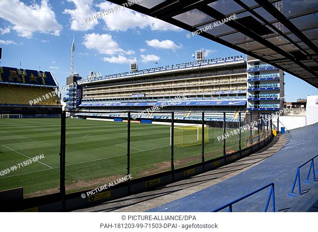 02 December 2018, Argentina, Buenos Aires: The football stadium La Bombonera in the district La Boca in Buenos Aires. The club was founded on 3 April 1905 by...