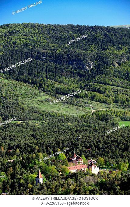 Mountainous landscape (Thorenc) of the Prealpes d'Azur regional park, Alpes-Maritimes, Provence-Alpes-Côte d'Azur, France