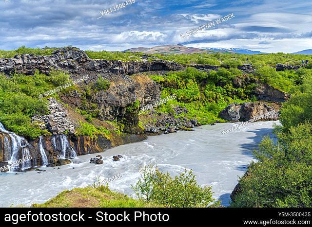 Hraunfossar, Reykholt, Iceland