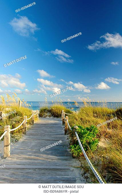 Boardwalk, Grace Bay, Providenciales, Turks and Caicos, Caribbean