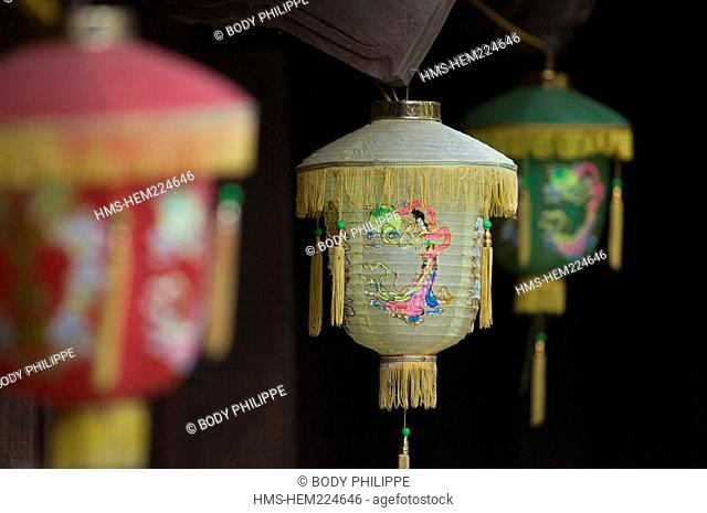Vietnam, Thai Binh, Keo Pagoda, Chua Keo, built in the twelfth century, paper lanterns