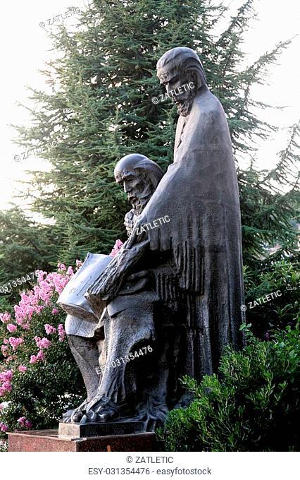 Monument of saint Cyril and Method, Ohrid, Macedonia