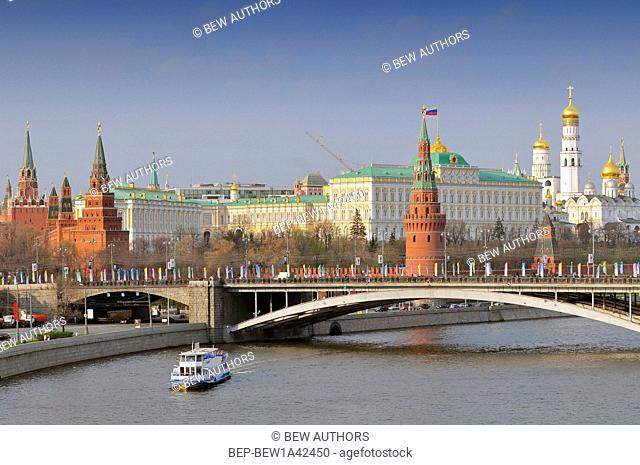 Russia, Moscow, Kremlin and the Moscow River