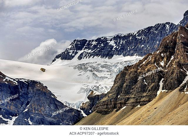 Crowfoot Glacier viewed from the Icefields Parkway, Banff National Park, Alberta, Canada