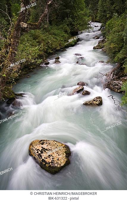 River at the Carretera Austral, Patagonia, Chile, South America