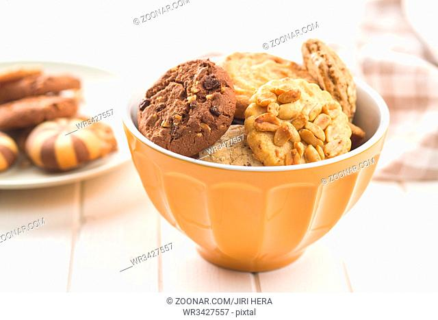 Different types of sweet cookies
