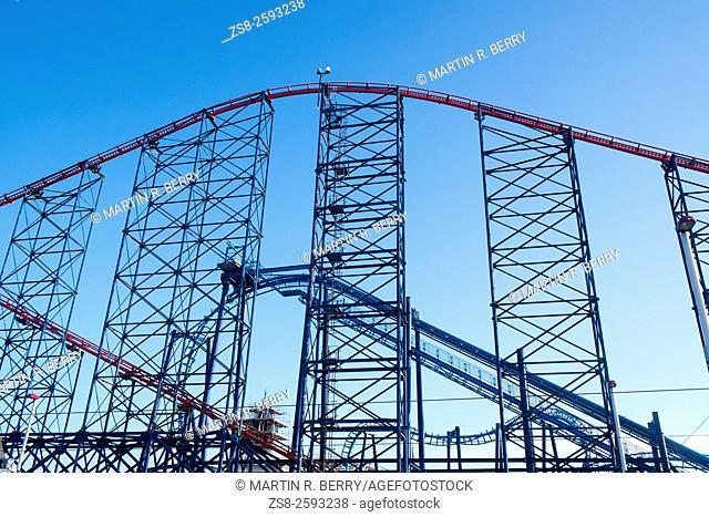 Big Dipper Amusement ride at Blackpool Pleasure Beach,England
