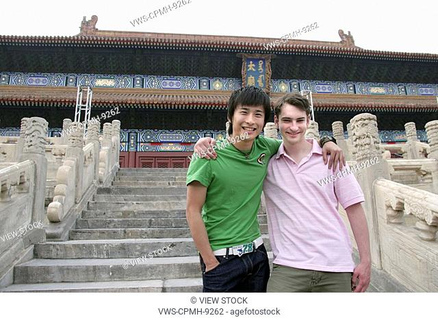 People From Different Countries Being Together In The Forbidden City,Beijing,China