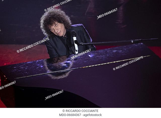 Italian singer and songwriter Riccardo Cocciante during the evening of the 69th Sanremo Music Festival. Sanremo (Italy), February 6th, 2019