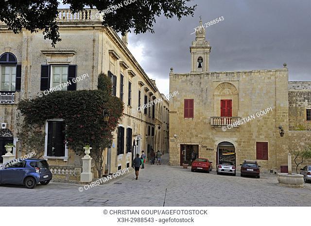 Bastion Square, Mdina, Malta, Mediterranean Sea, Southern Europe