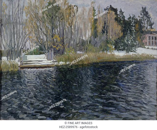 First Snow, Early 20th cen. Found in the collection of the Regional Museum of Art and History, Vyazniki