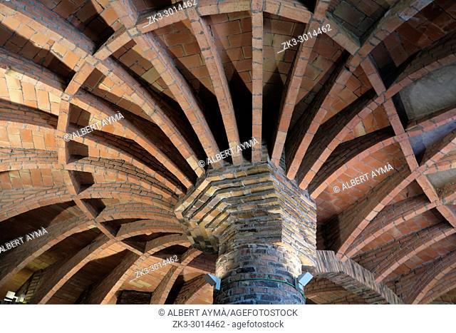 Cripta de la Colònia Güell, by Gaudí. Santa coloma de Cervelló. Barcelona province, Spain