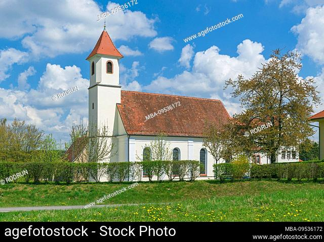 Germany, Baden-Wurttemberg, Waldachtal-Salzstetten, pilgrimage church to the Sorrowful Mother of God, place of pilgrimage