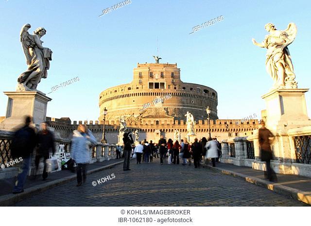 Ponte Sant Angelo, Castel Sant'Angelo, Rome, Italy, Europe