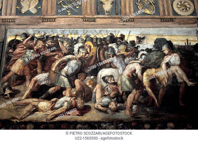 Modena (Italy): fresco in the City Hall