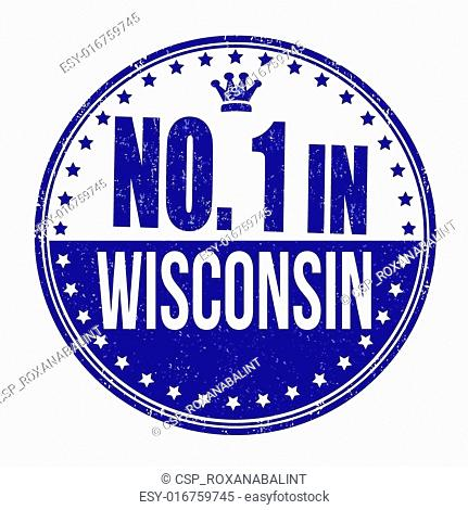 Number One In Wisconsin Stamp