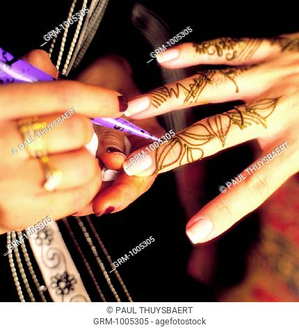 Ramadan: Henna is applied on last day of Ramadan for Eid Al-Fitr (Three-Day celebration of fast-breaking)