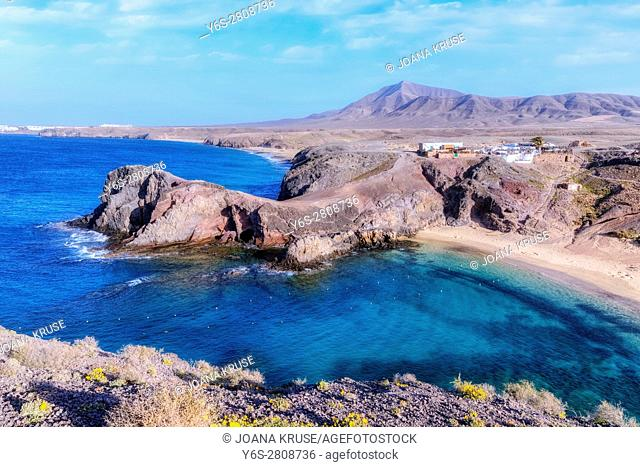 Playa Papagayo, Playa Blanca, Lanzarote, Canary Islands, Spain
