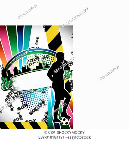 Urban grunge soccer poster