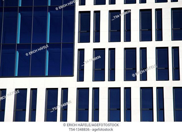 Windows of a modern office complex in Munich