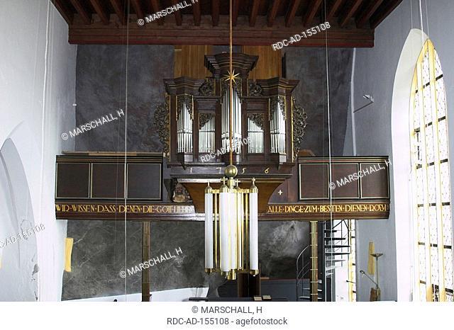 Organ Rock church Idar-Oberstein Rhineland-Palatinate Germany