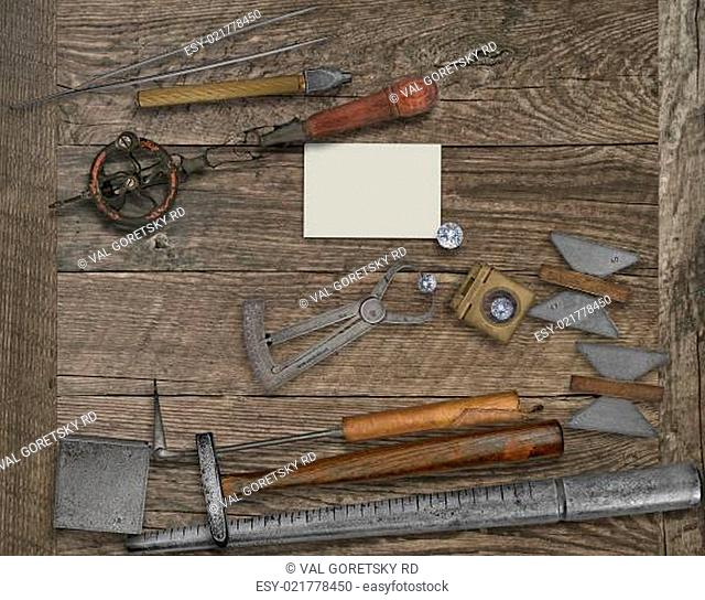 vintage jeweler tools and business card
