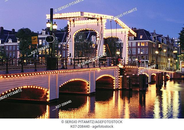 Skinny Bridge (Magere Brug). Amsterdam. Holland