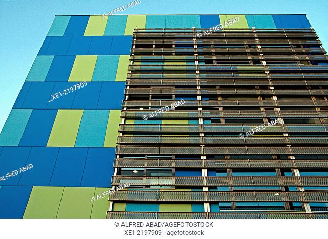 Building of the Mediterranean Technology Parc, UPC, Castelldefels, Catalonia, Spain