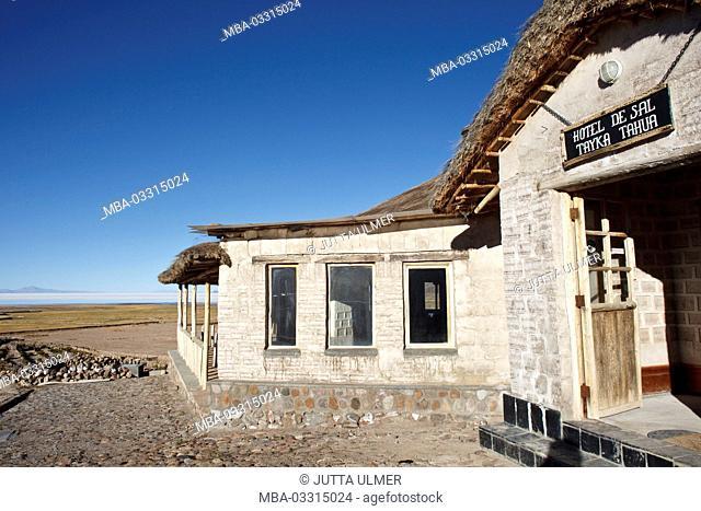 Bolivia, Salar de Uyuni, Tahua, Tayka hotel de Sal