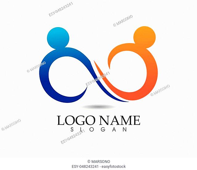 infinity logo and symbol template icons app