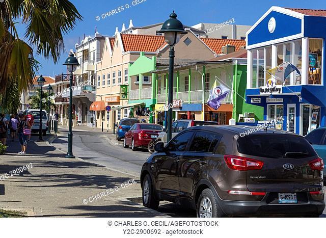 Kralendijk, Bonaire, Leeward Antilles. Kaya Grandi Street Scene